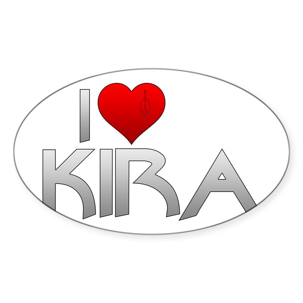 I Heart Kira Nerys Oval Sticker