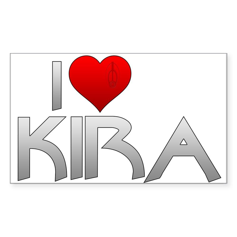 I Heart Kira Nerys Rectangle Sticker