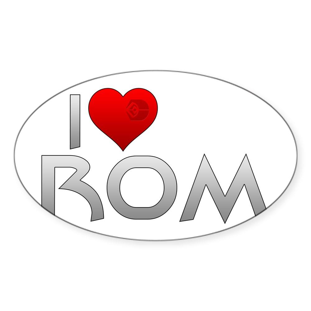 I Heart Rom Oval Sticker