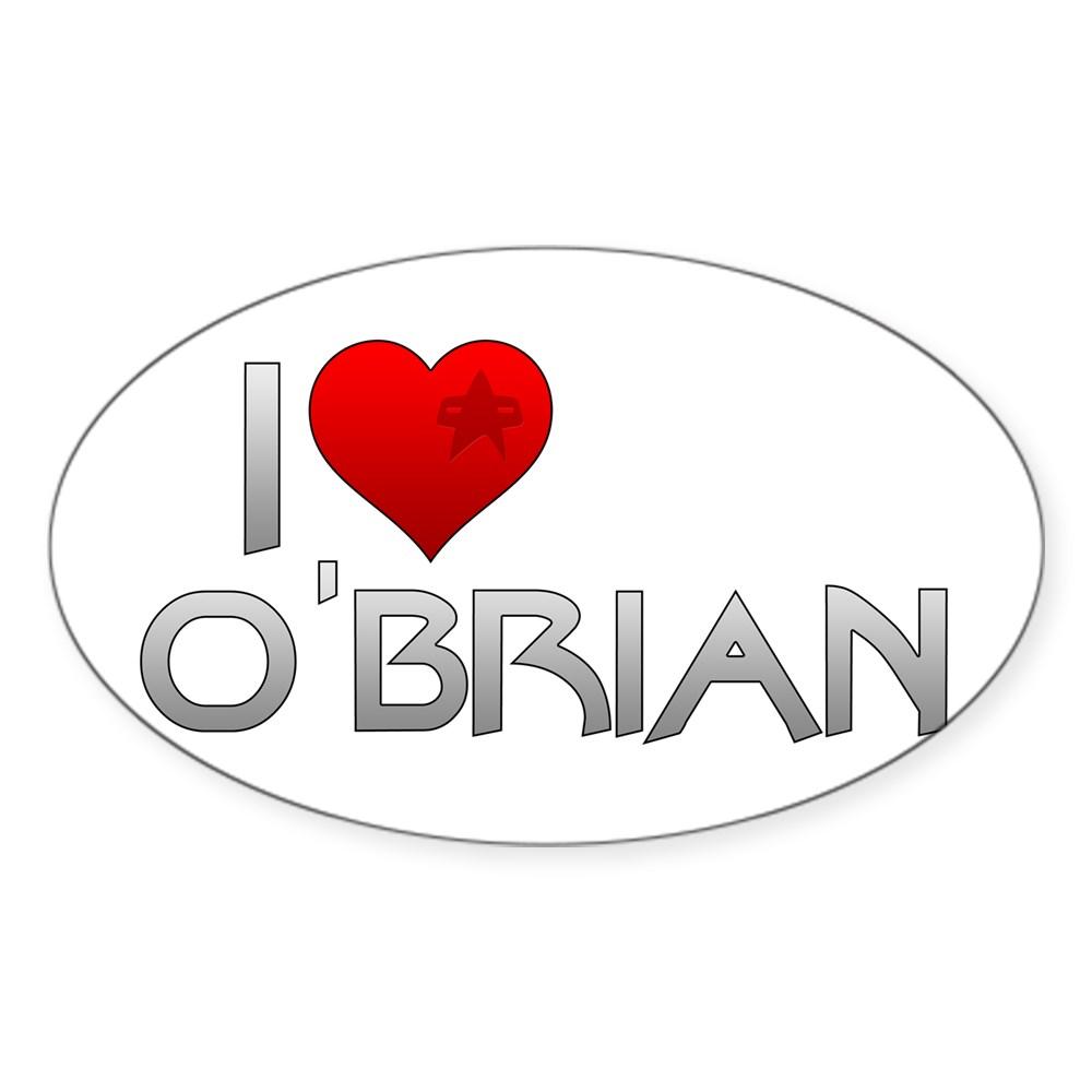 I Heart O'Brian Oval Sticker