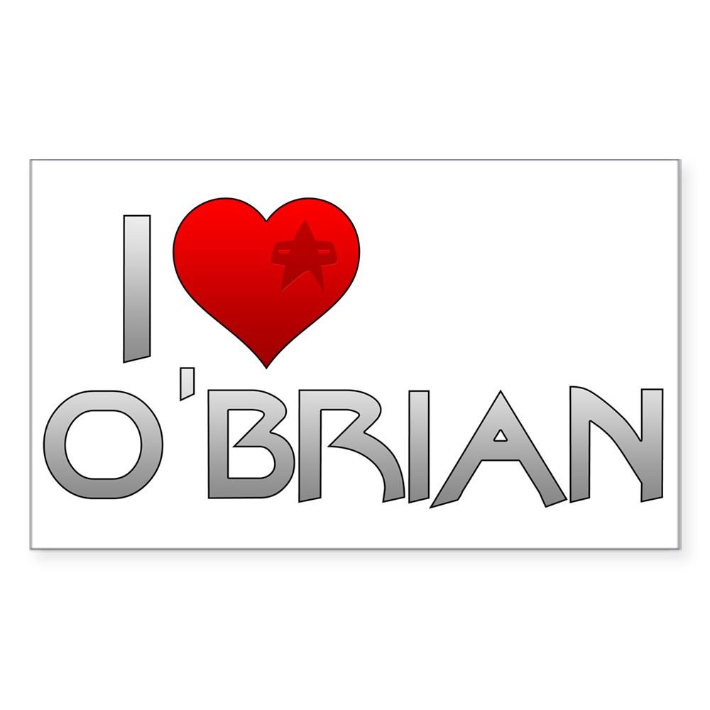 I Heart O'Brian Rectangle Sticker