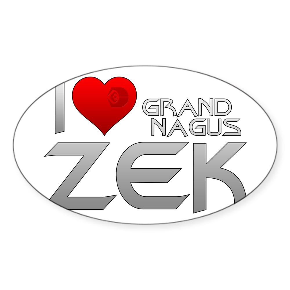 I Heart Grand Nagus Zek Oval Sticker