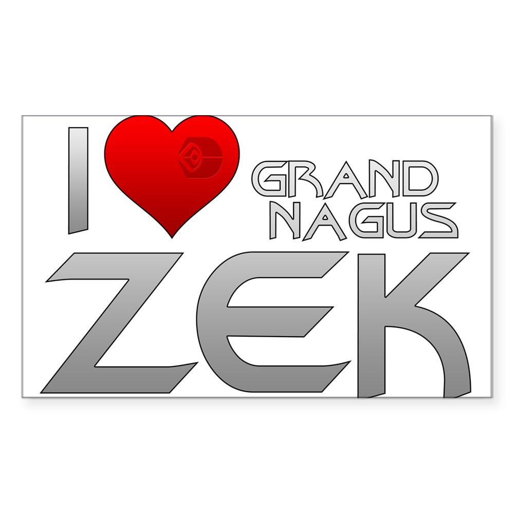 I Heart Grand Nagus Zek Rectangle Sticker