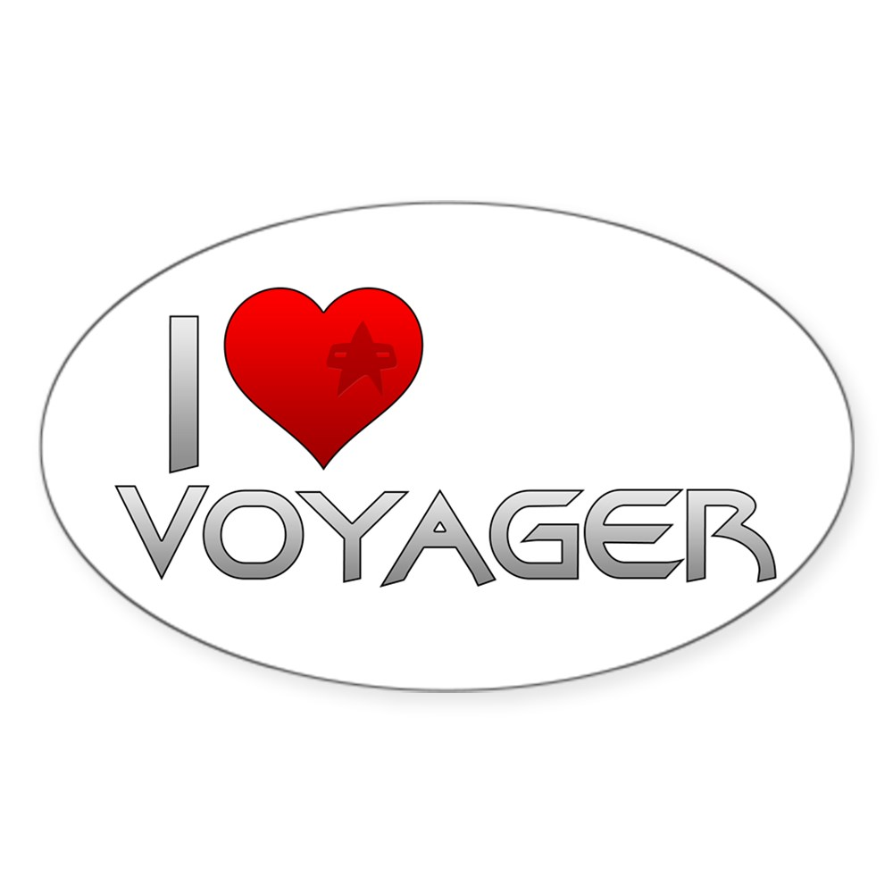 I Heart Voyager Oval Sticker