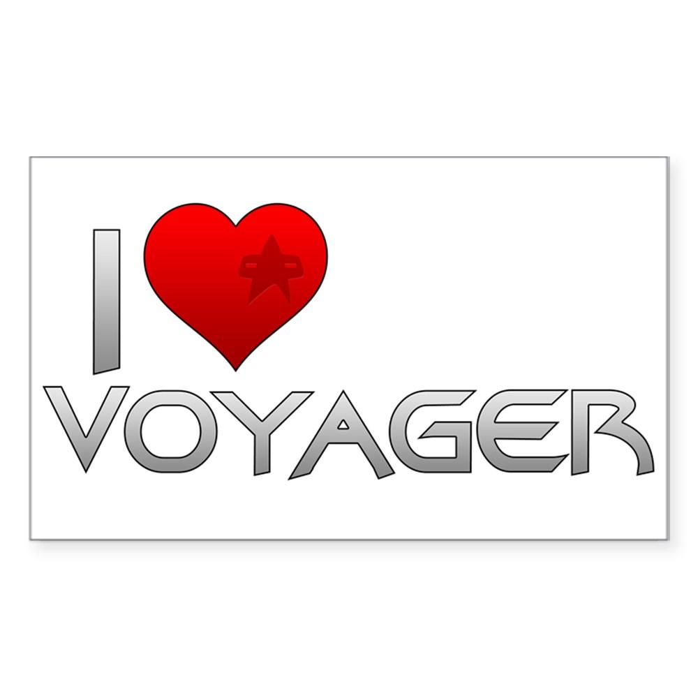 I Heart Voyager Rectangle Sticker