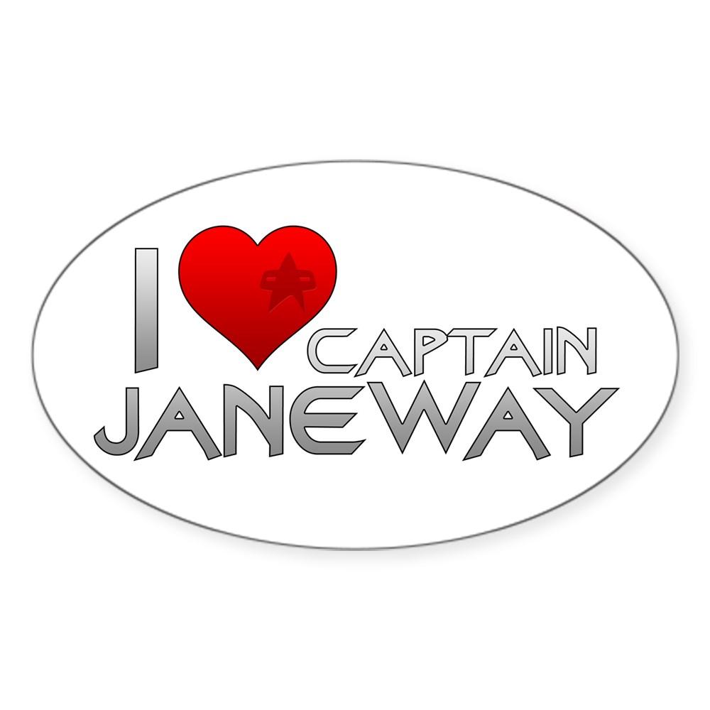 I Heart Captain Janeway Oval Sticker