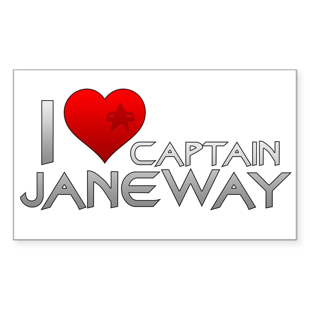 I Heart Captain Janeway Rectangle Sticker