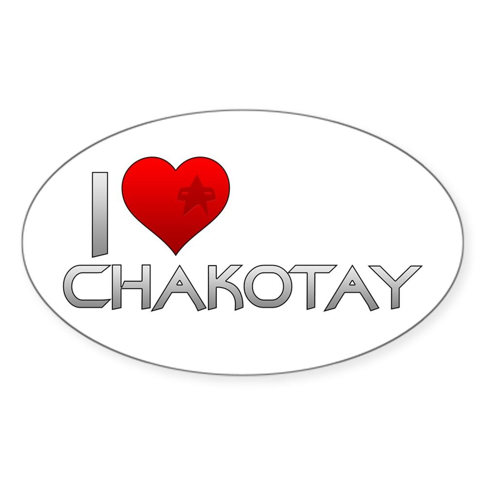 I Heart Chakotay Oval Sticker
