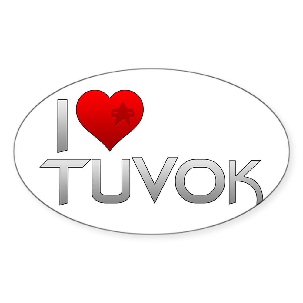 I Heart Tuvok Oval Sticker