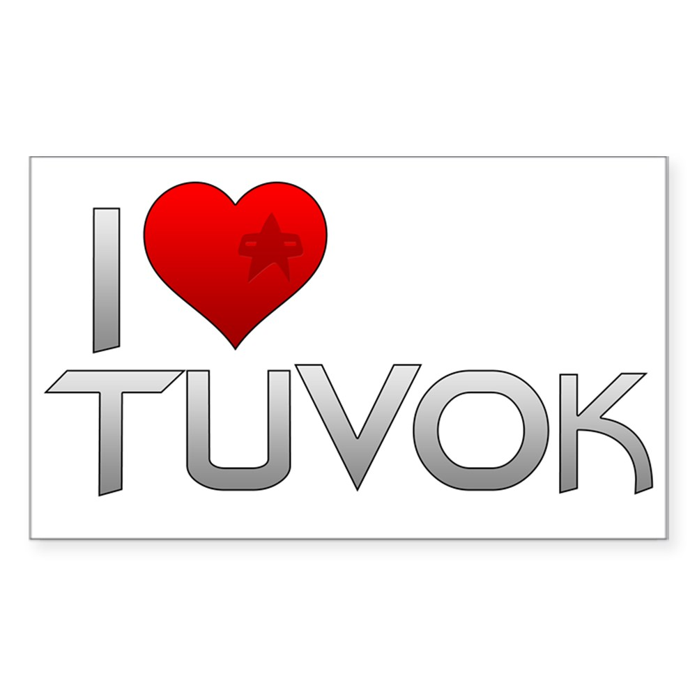 I Heart Tuvok Rectangle Sticker