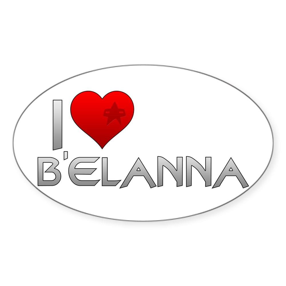 I Heart B'Elanna Oval Sticker