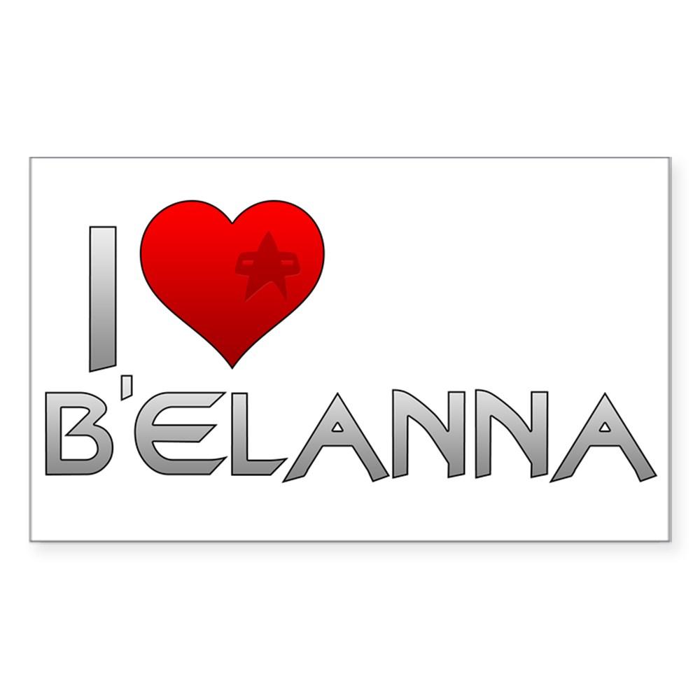 I Heart B'Elanna Rectangle Sticker