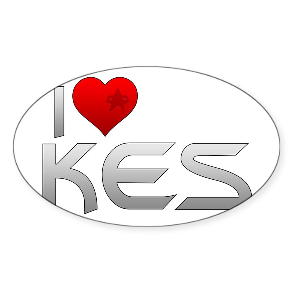 I Heart Kes Oval Sticker