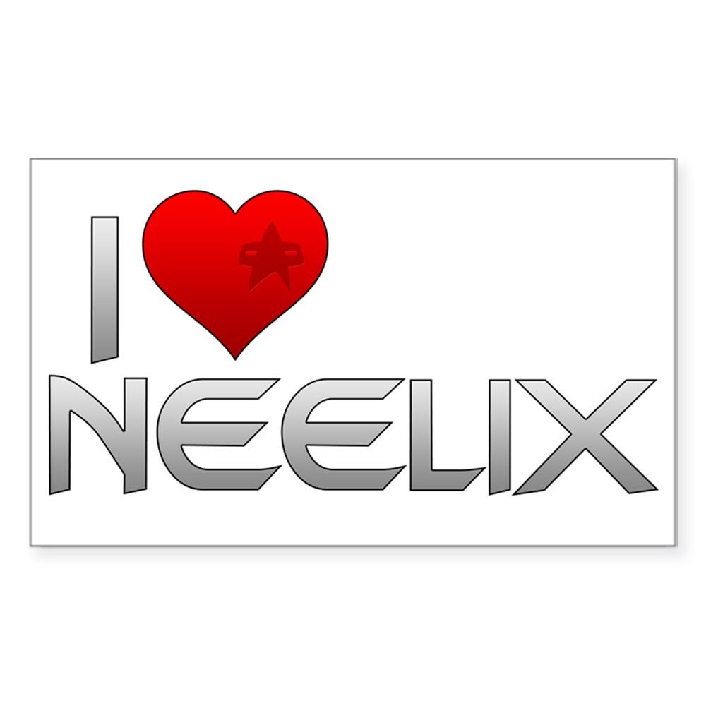 I Heart Neelix Rectangle Sticker