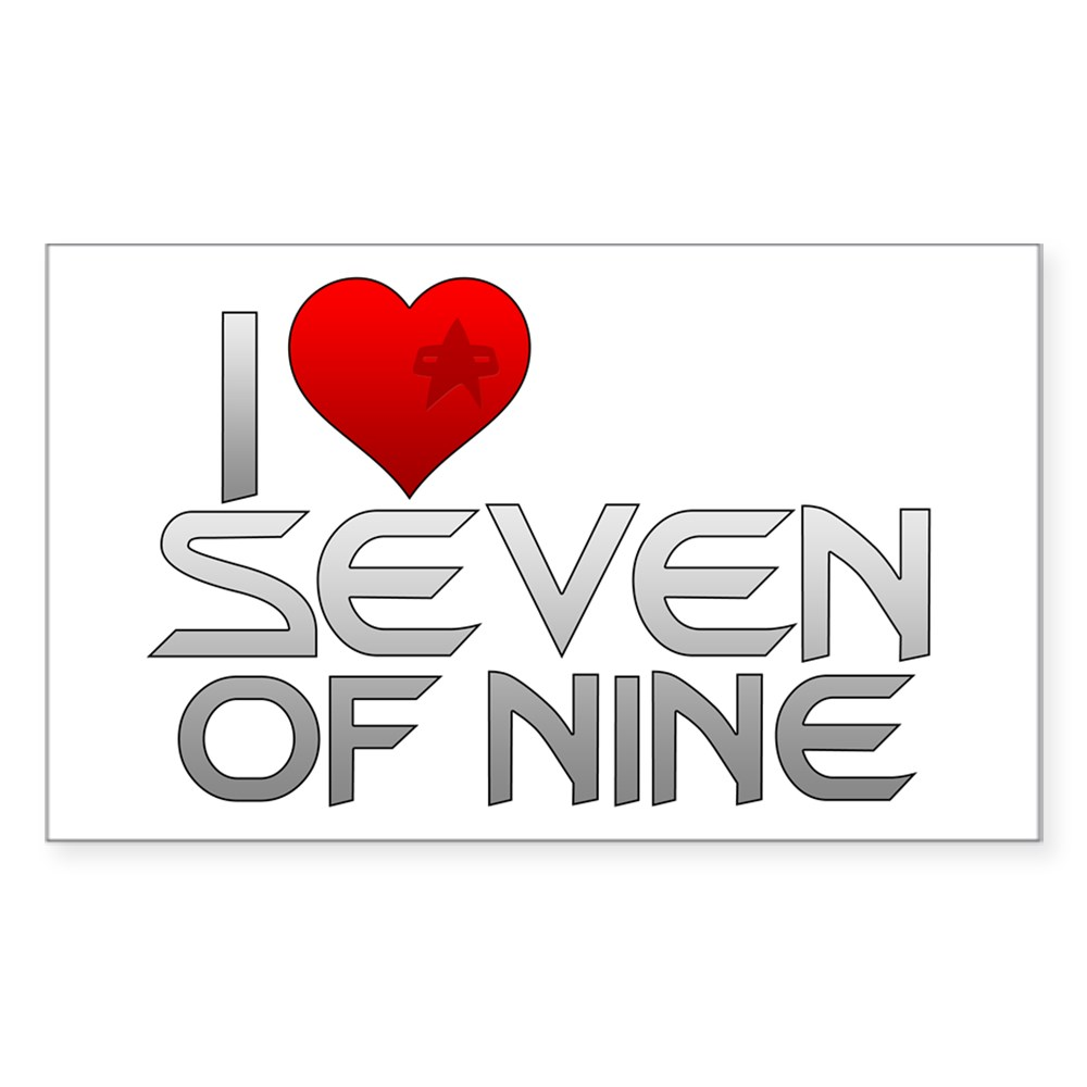 I Heart Seven of Nine Rectangle Sticker