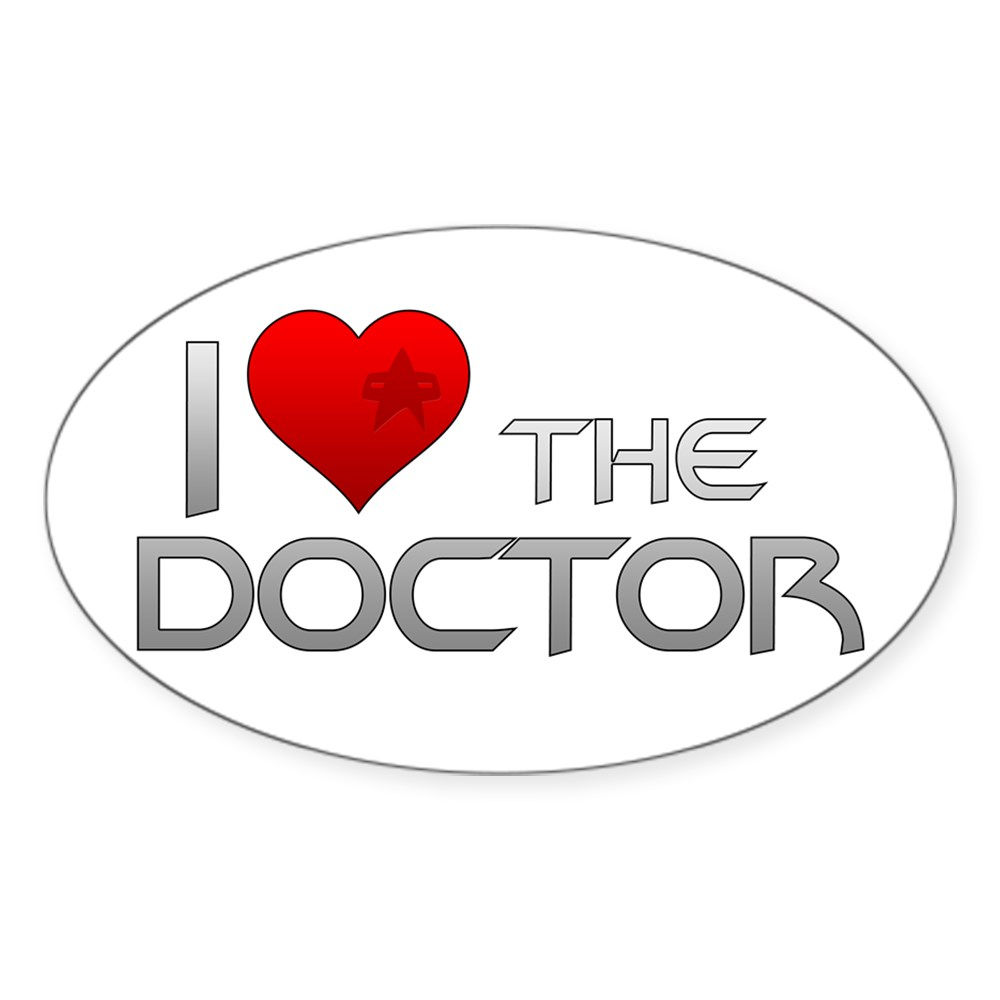 I Heart The Doctor Oval Sticker