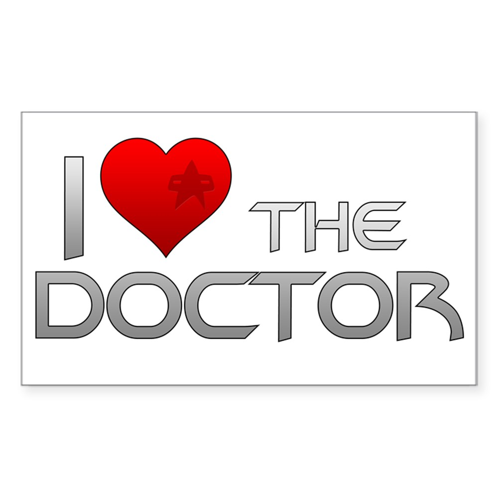 I Heart The Doctor Rectangle Sticker