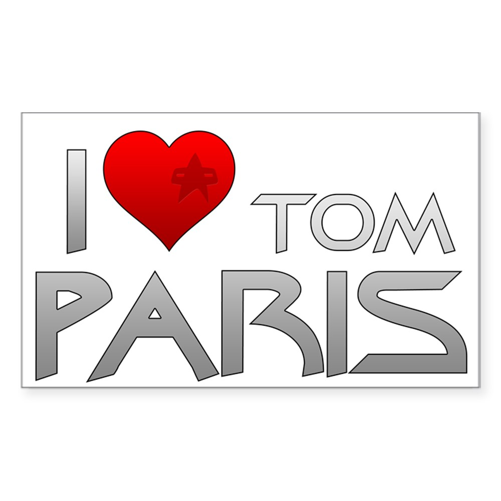 I Heart Tom Paris Rectangle Sticker