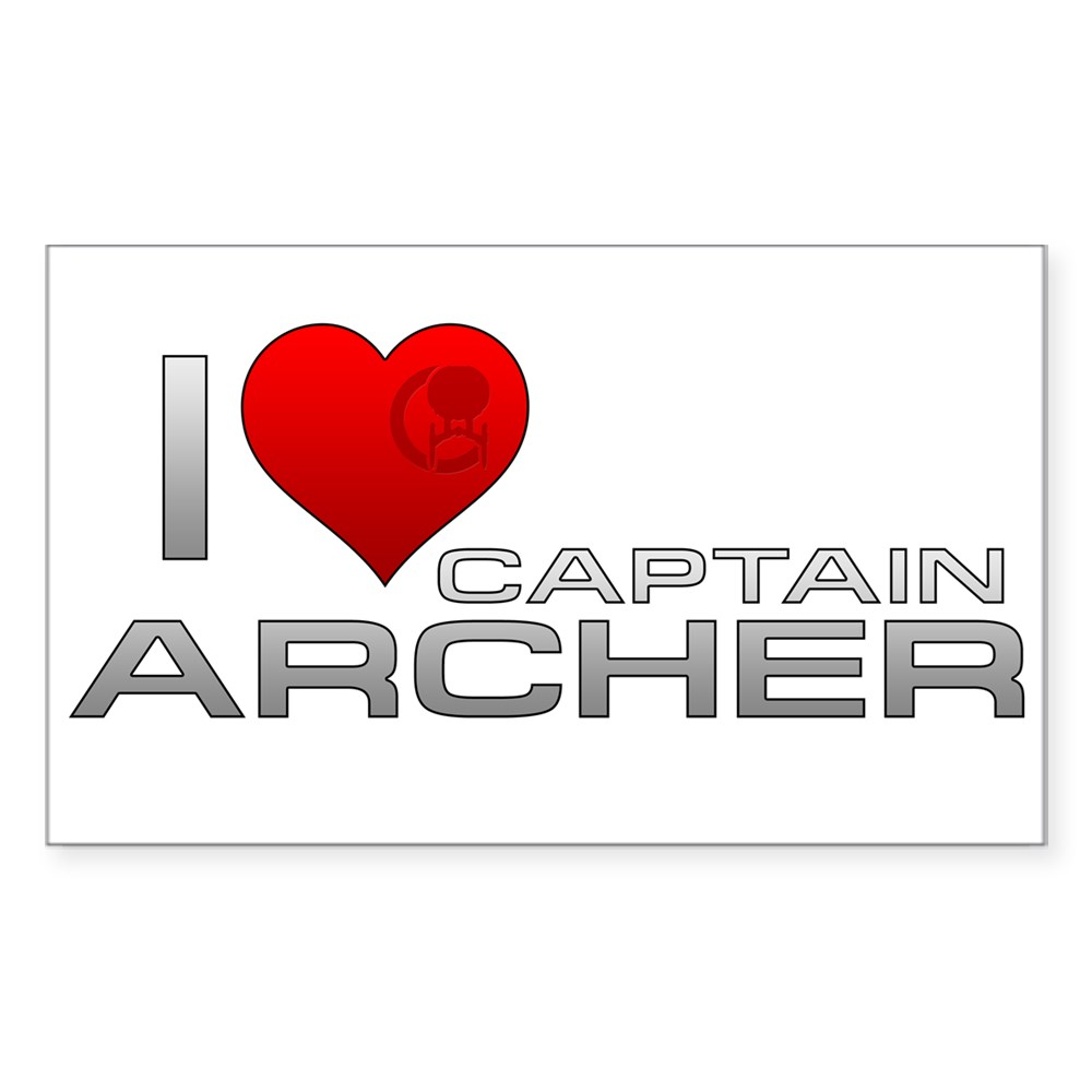 I Heart Captain Archer Rectangle Sticker