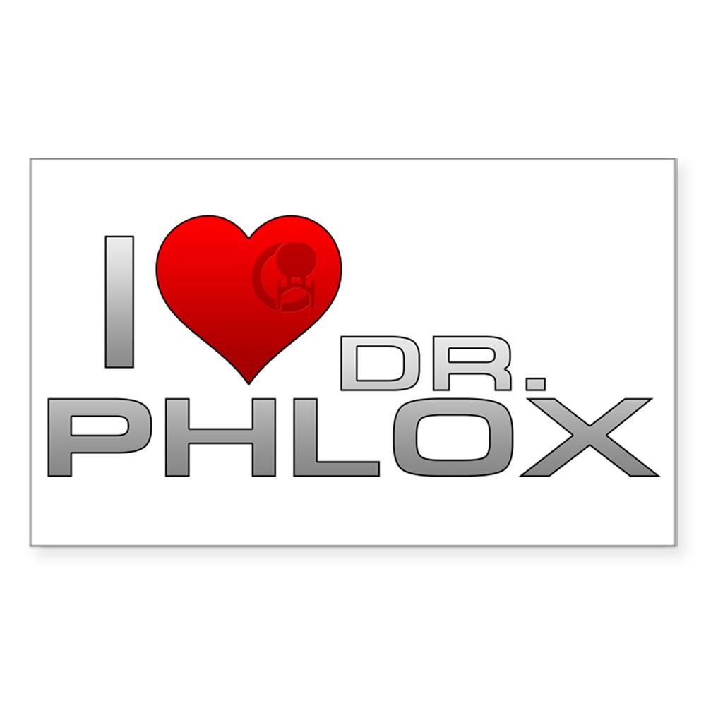 I Heart Dr. Phlox Rectangle Sticker