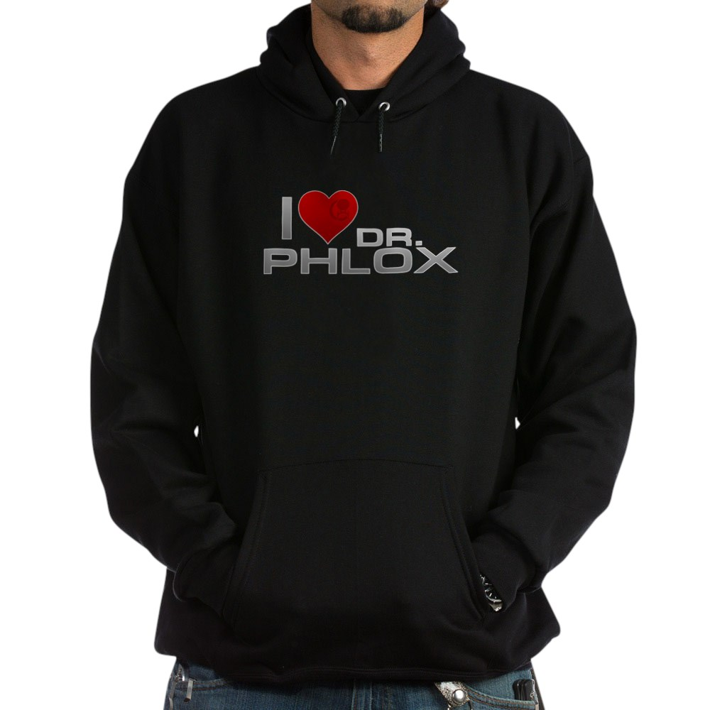I Heart Dr. Phlox Dark Hoodie