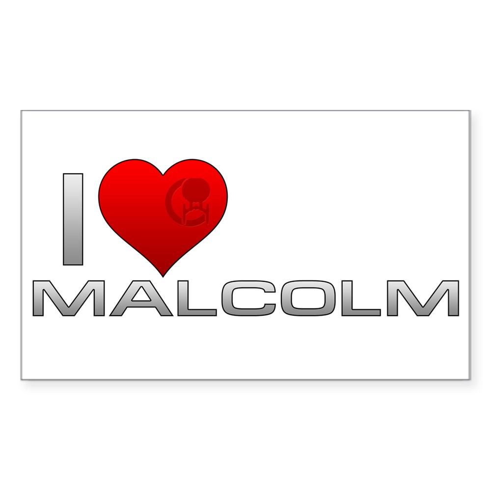 I Heart Malcolm Rectangle Sticker