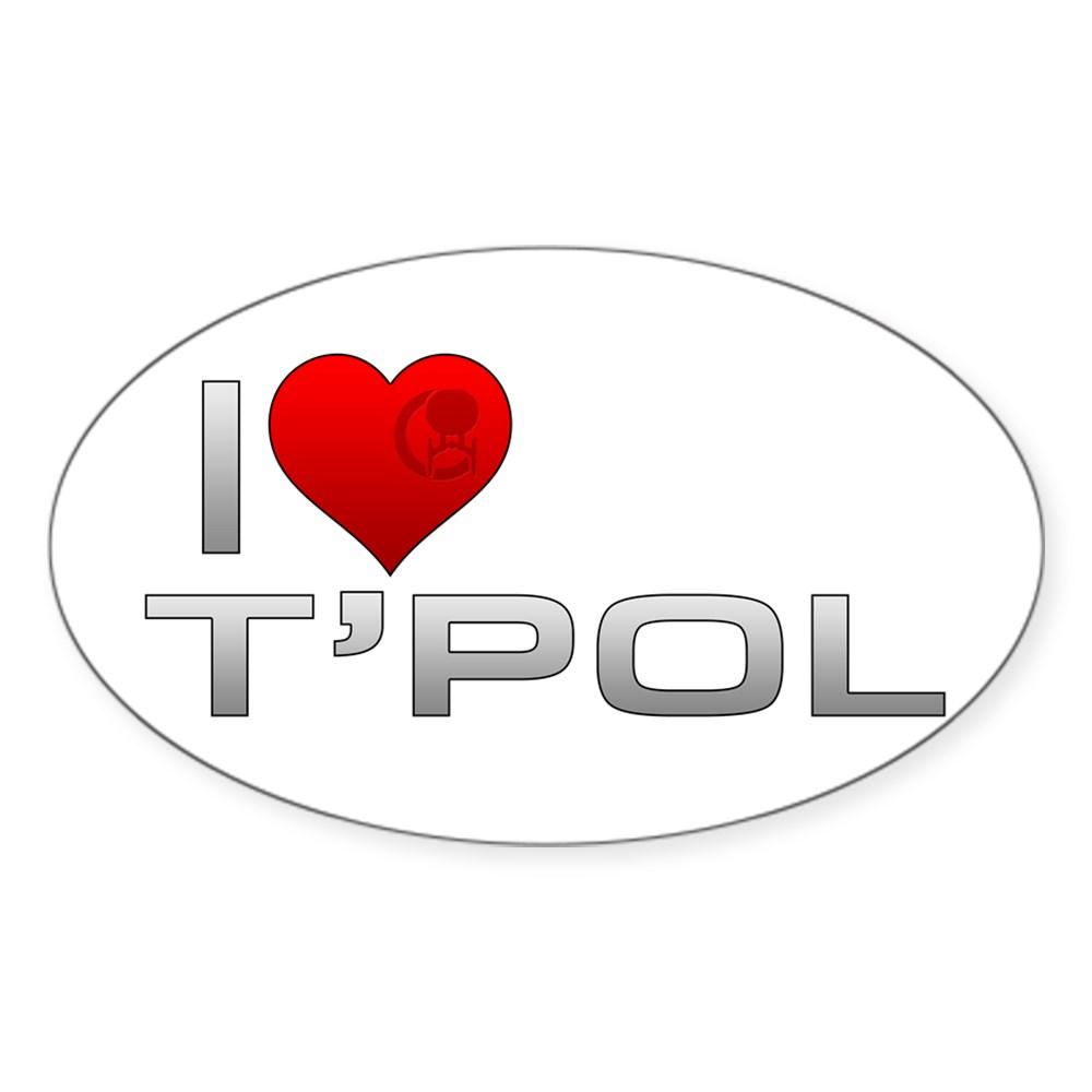I Heart T'Pol Oval Sticker