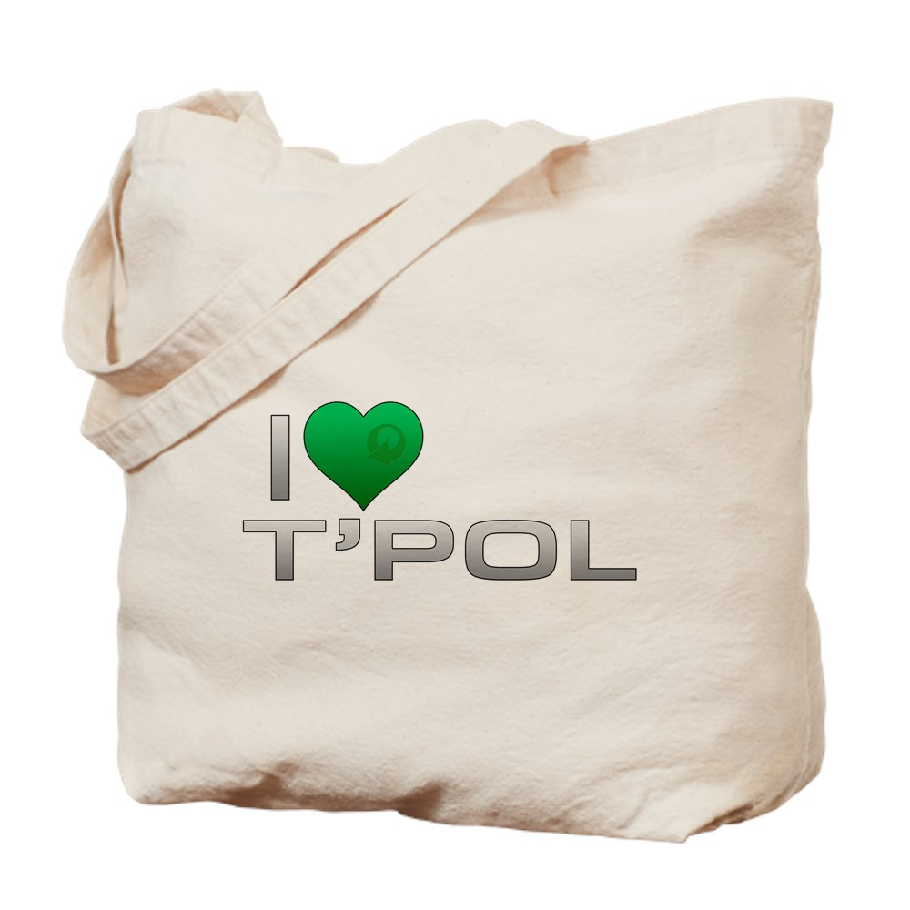 I Heart T'Pol - Green Heart Tote Bag