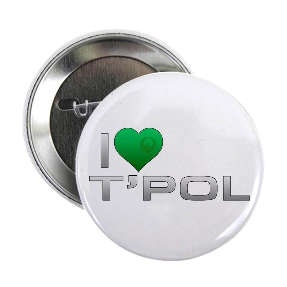 I Heart T'Pol - Green Heart 2.25