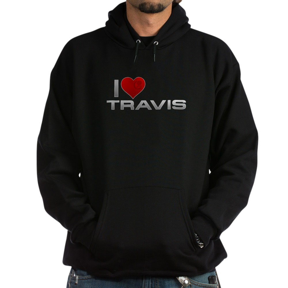 I Heart Travis Dark Hoodie