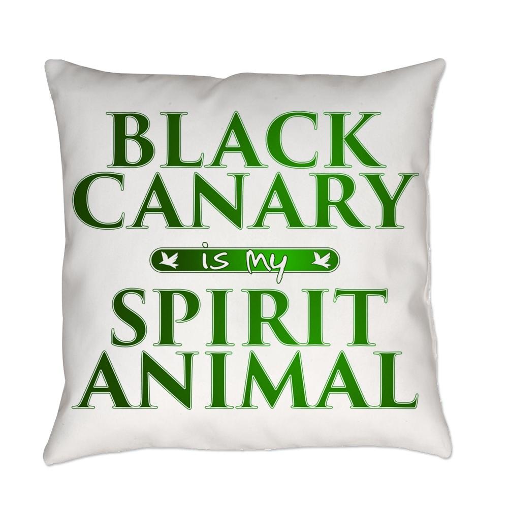 Black Canary is my Spirit Animal Everyday Pillow