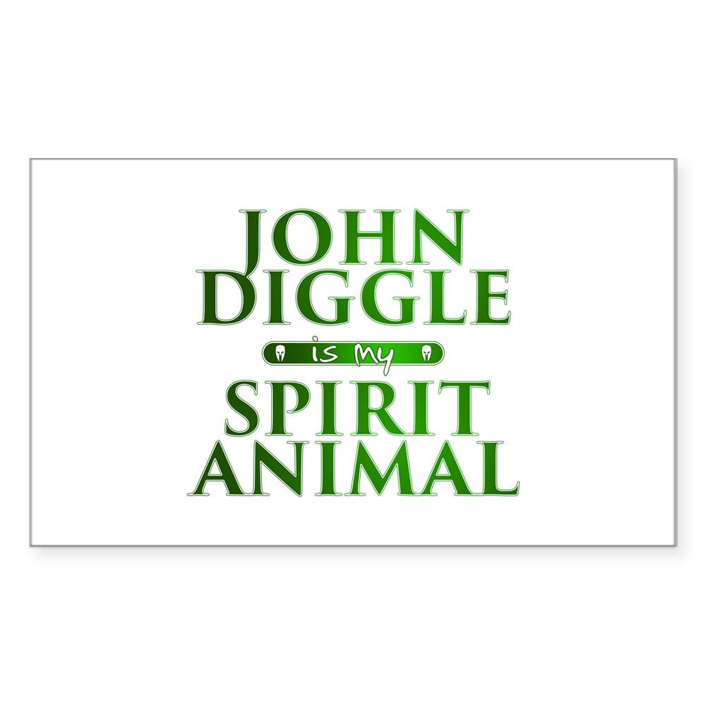John Diggle is my Spirit Animal Rectangle Sticker