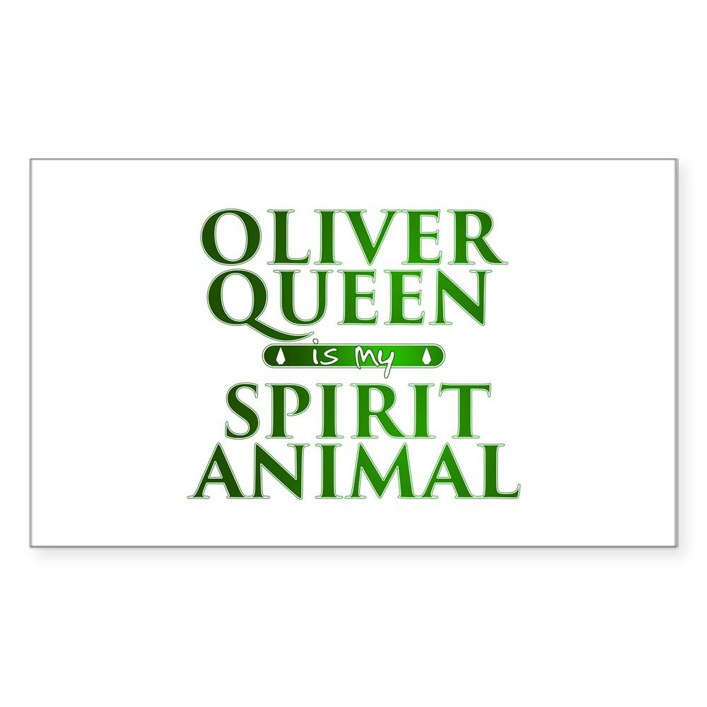 Oliver Queen is my Spirit Animal Rectangle Sticker