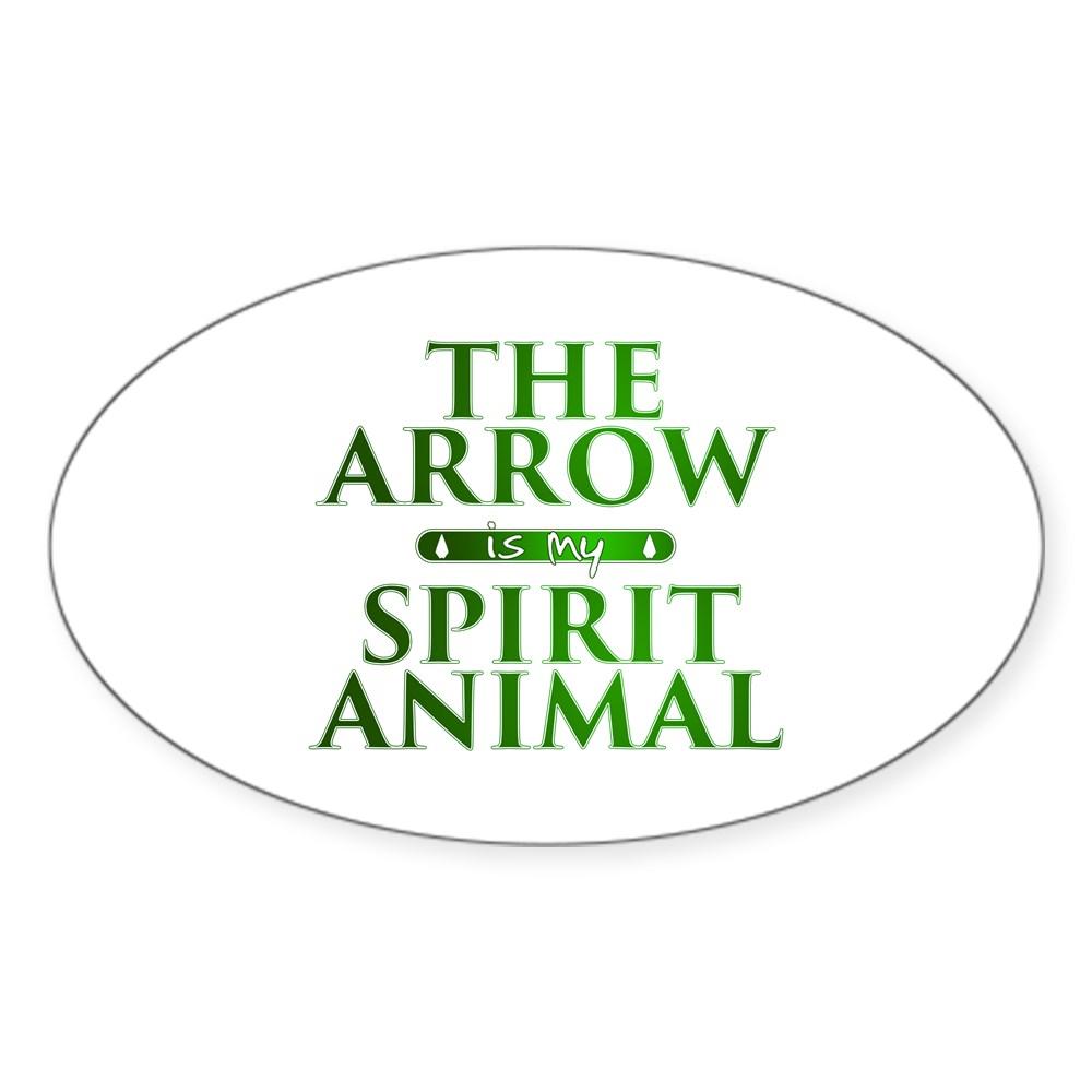The Arrow is my Spirit Animal Oval Sticker