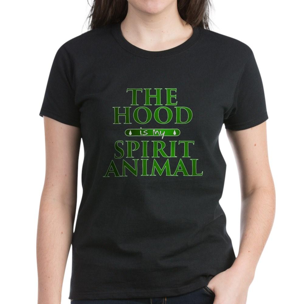The Hood is my Spirit Animal Women's Dark T-Shirt