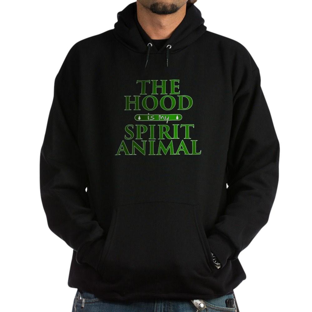 The Hood is my Spirit Animal Dark Hoodie