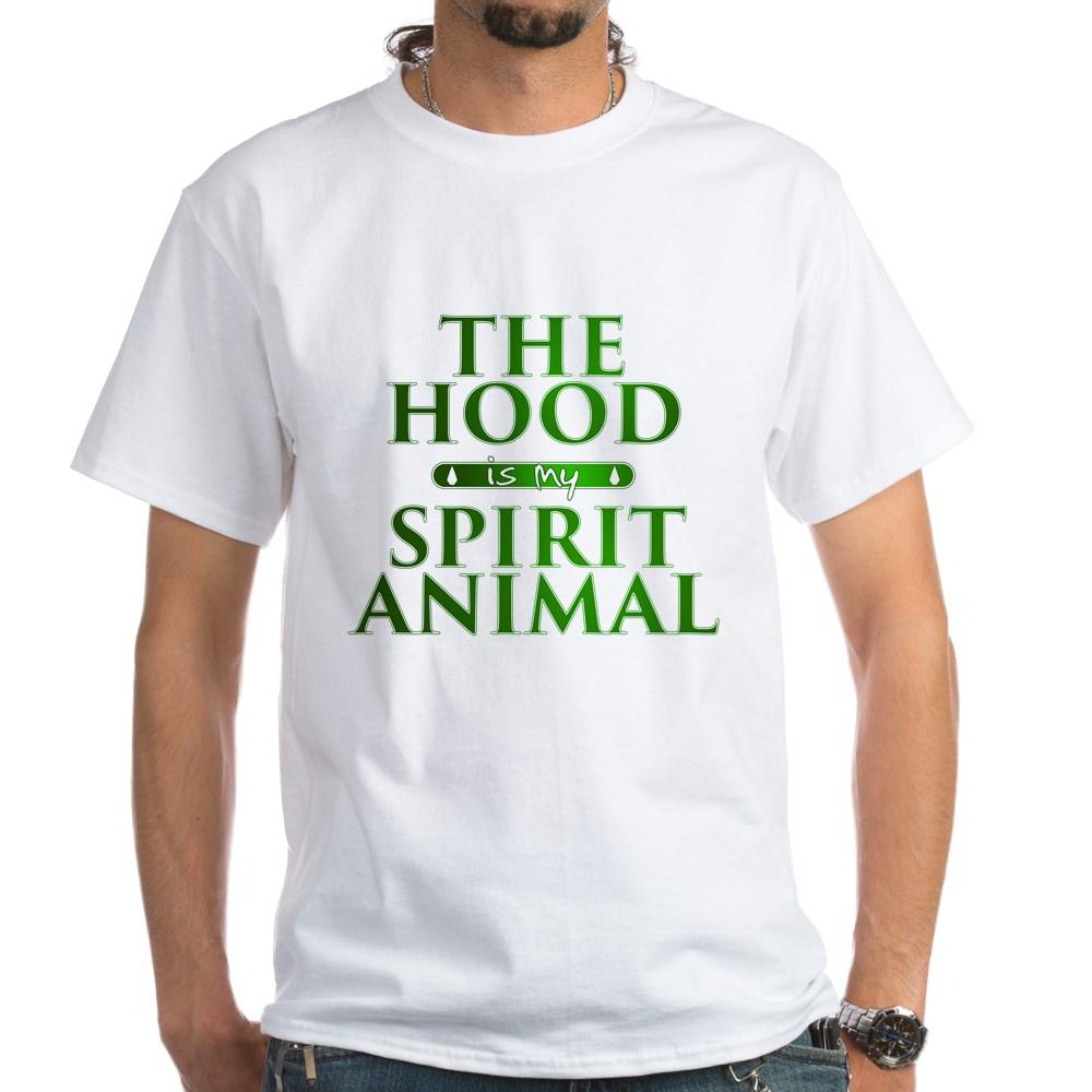 The Hood is my Spirit Animal White T-Shirt
