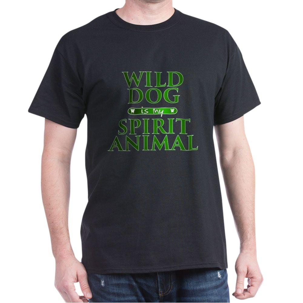 Wild Dog is my Spirit Animal Dark T-Shirt