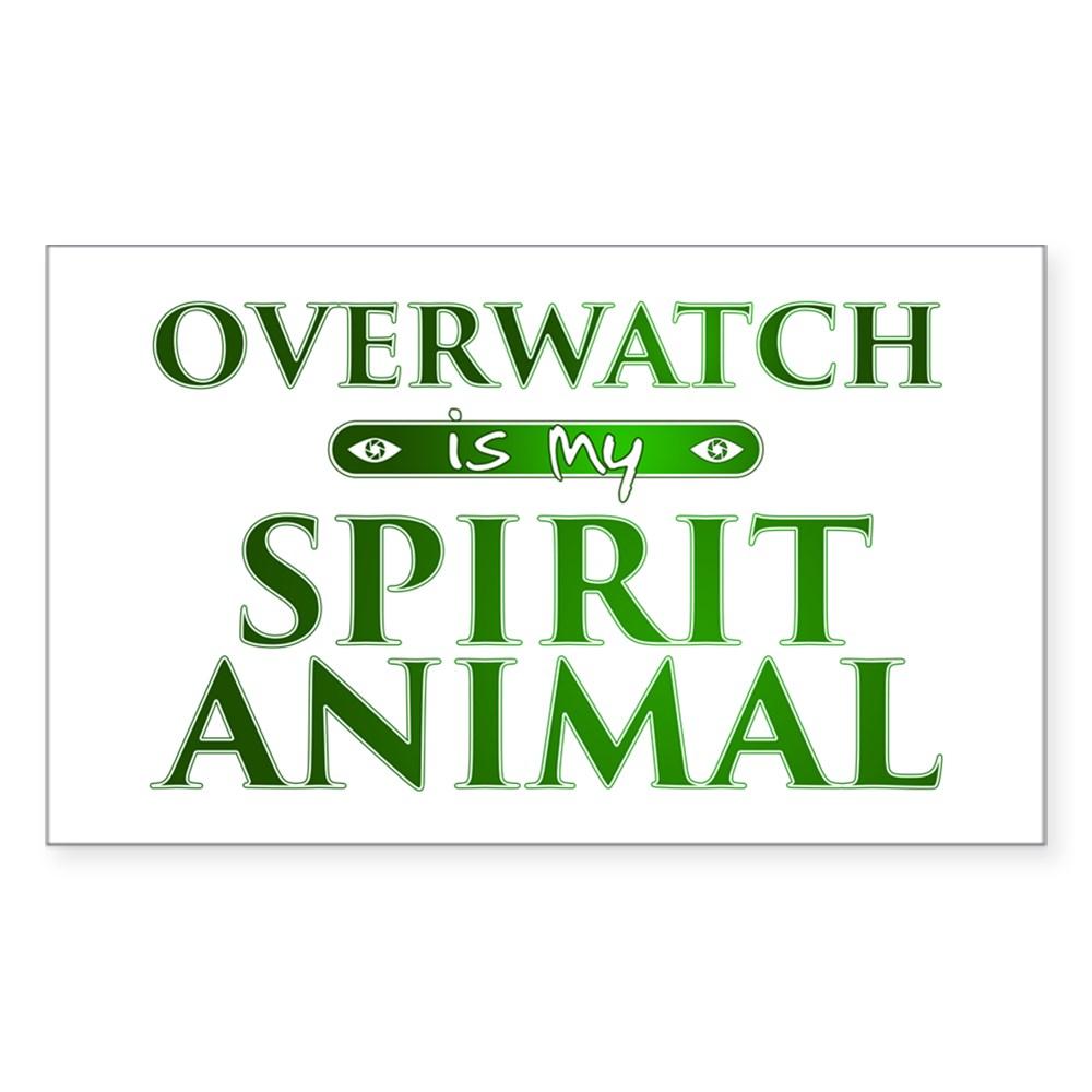 Overwatch is my Spirit Animal Rectangle Sticker