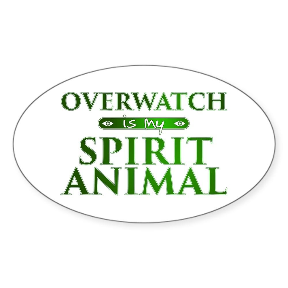 Overwatch is my Spirit Animal Oval Sticker