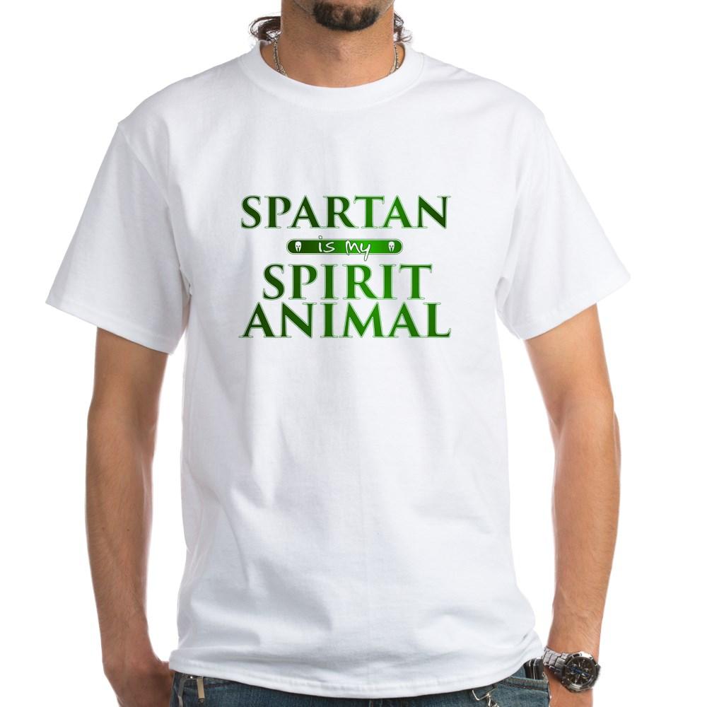 Spartan is my Spirit Animal White T-Shirt