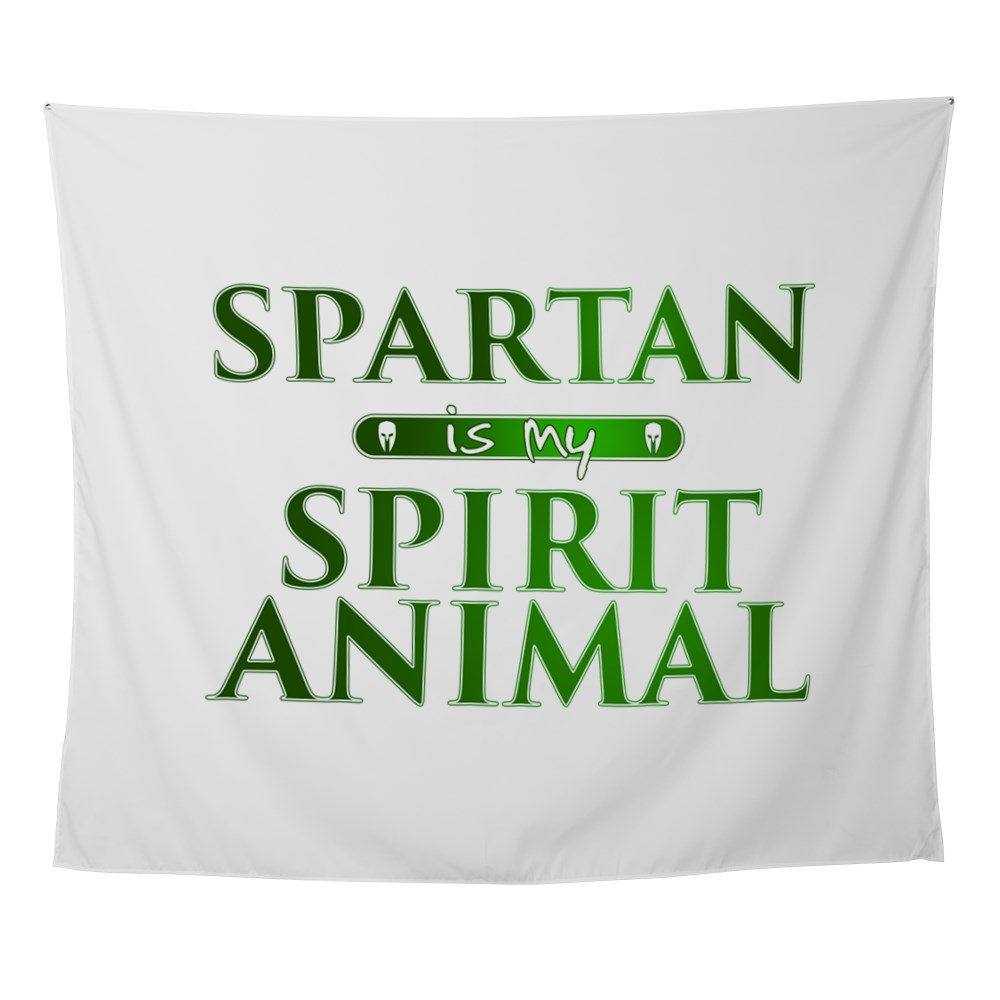 Spartan is my Spirit Animal Wall Tapestry