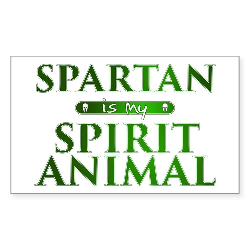 Spartan is my Spirit Animal Rectangle Sticker