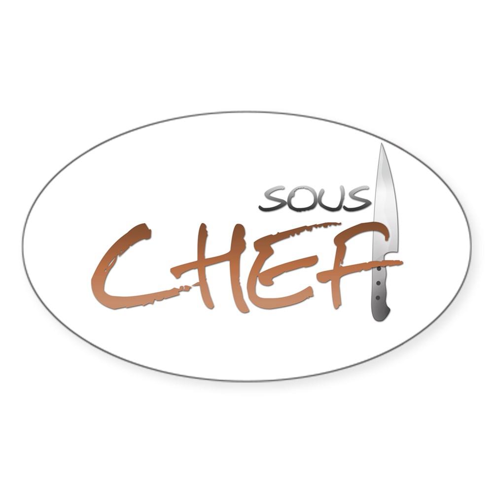 Orange Sous Chef Oval Sticker