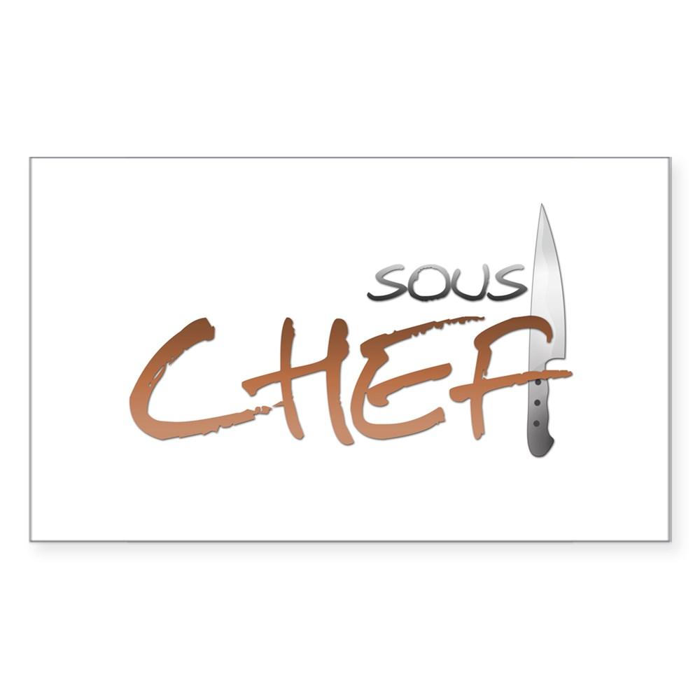 Orange Sous Chef Rectangle Sticker