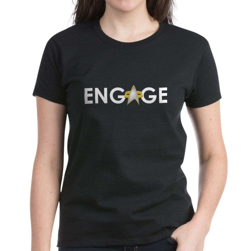 Engage Star Trek Emblem Women's Dark T-Shirt