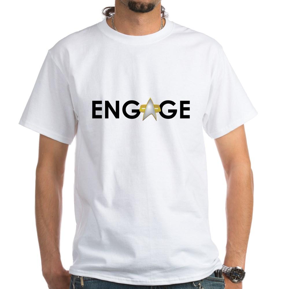 Engage Star Trek Emblem White T-Shirt