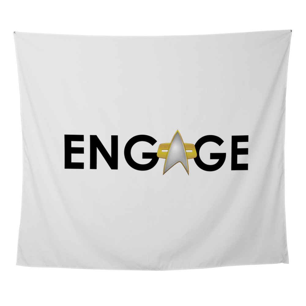 Engage Star Trek Emblem Wall Tapestry