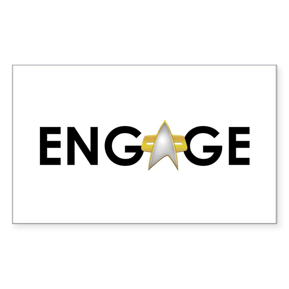 Engage Star Trek Emblem Rectangle Sticker
