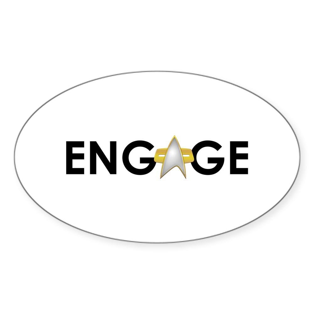 Engage Star Trek Emblem Oval Sticker